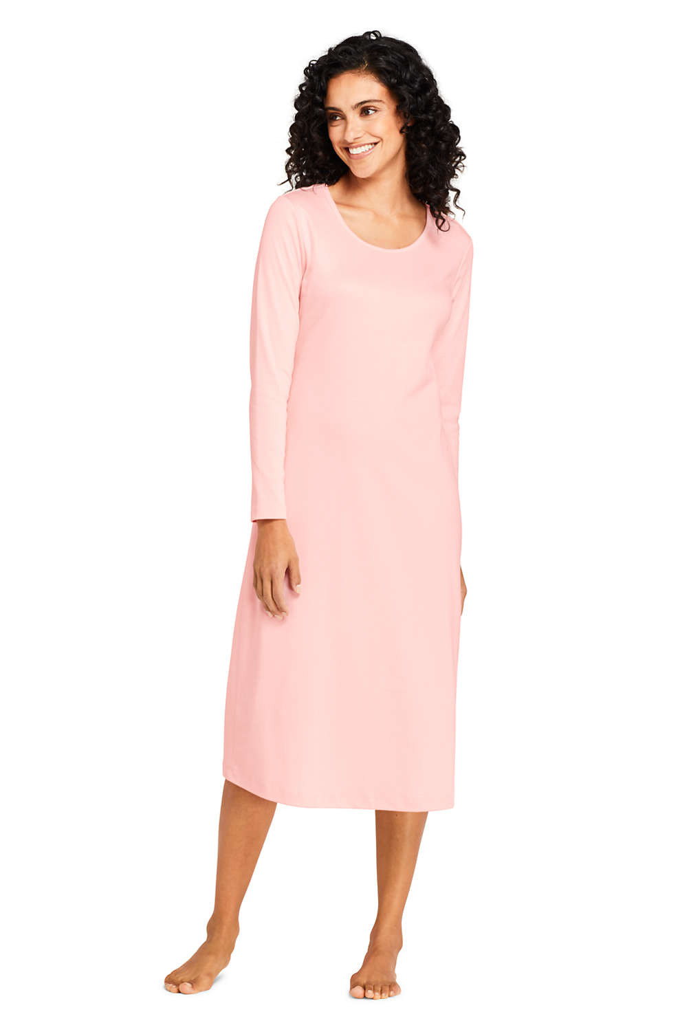 Women s Midcalf Supima Cotton Nightgown from Lands  End a67ea3a2b