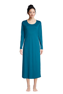 Women's Supima Long Sleeve Calf-length Nightdress