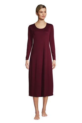 La Chemise de Nuit Longue à Manches Longues, Femme Stature Standard