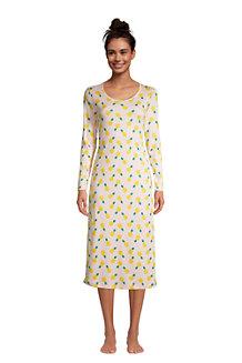 Women's Supima Long Sleeve Calf-length Nightdress