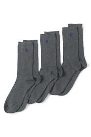 School Uniform Women's Seamless Toe Solid Crew Socks (3-pack)