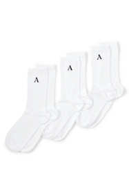 Women's 3-Pack Seamless Toe Solid Crew Socks