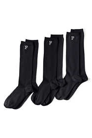 School Uniform Women's Seamless Toe Solid Trouser Socks (3-pack)