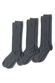 School Uniform Women's 3-Pack Seamless Toe Solid Trouser Socks