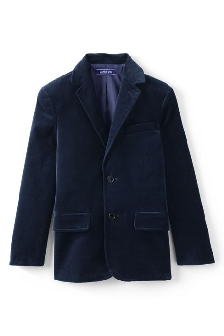 Little Boys Velvet Blazer