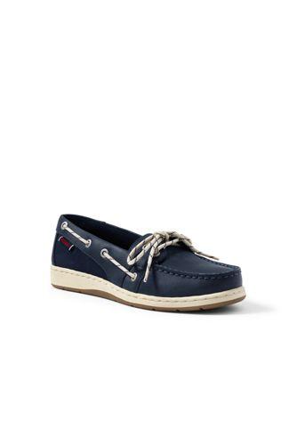 Womens Slip-on Boat Shoes - 4.5 - BLUE Lands End 1huU9c