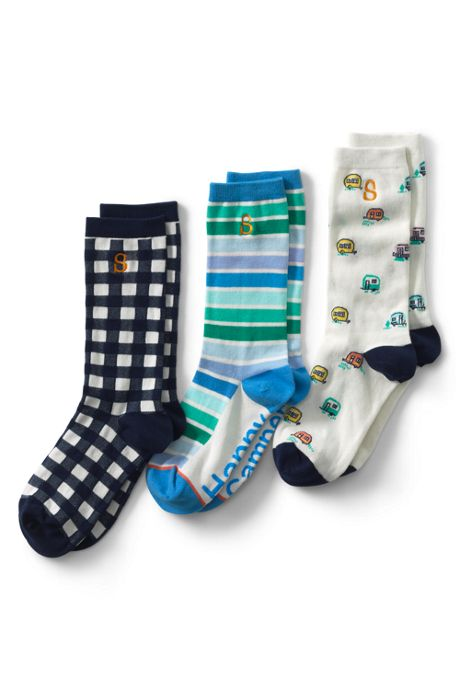 Women's Seamless Pattern Crew Socks (3-pack)