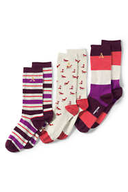 Women's 3-Pack Seamless Pattern Crew Socks