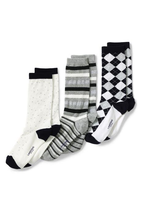 Women's Seamless Pattern Crew Socks (3-pack)