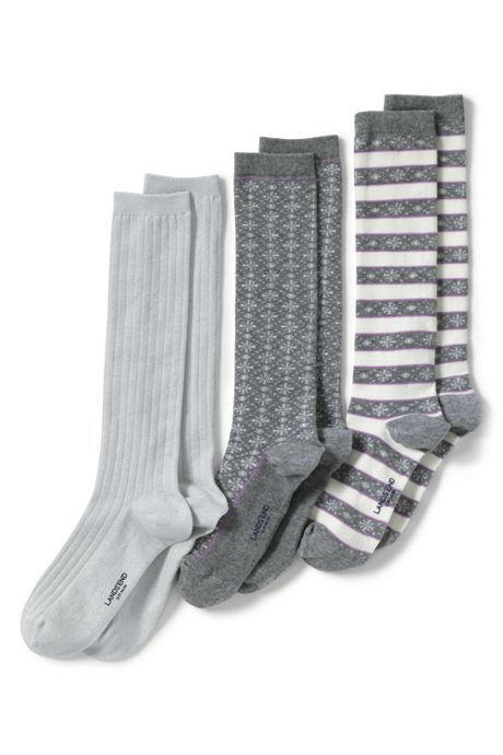 Women's Seamless Pattern Trouser Socks (3-pack)