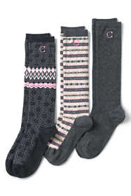 Women's 3-Pack Seamless Toe Pattern Trouser Socks