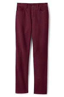 Le Pantalon Droit en Velours Côtelé Stretch Taille Haute, Femme