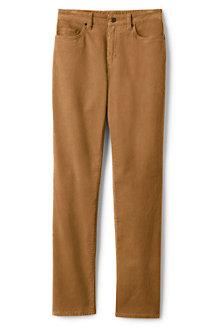 Women's High Waisted Jeans, Straight Leg Corduroy
