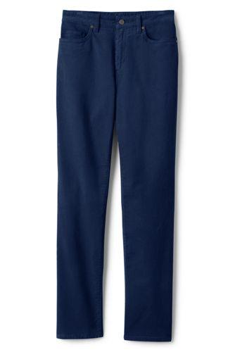 Women's High Waisted Corduroy Jeans, Straight Leg