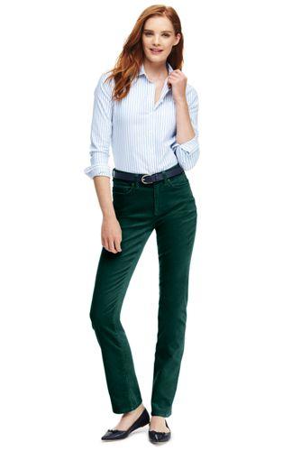 Stretch Taille Velours Côtelé Le Standard Droit Stature HauteFemme Pantalon En 2YEDW9eHI