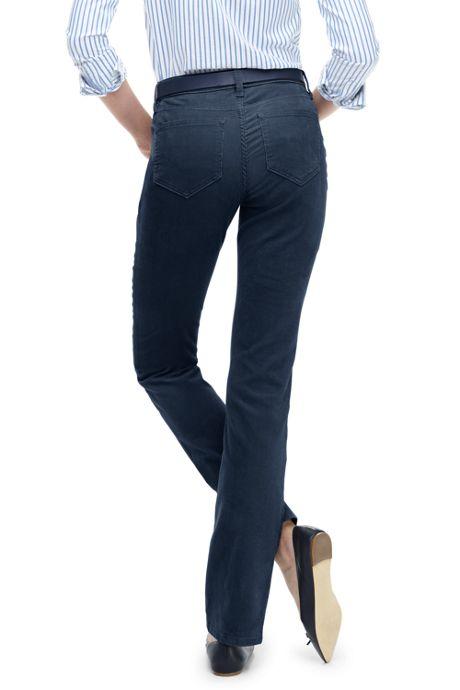 Women's Petite High Rise Straight Leg Corduroy Pants