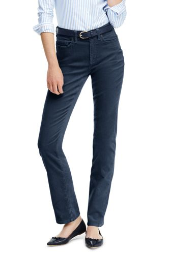 Straight Fit Cordhose High Waist für Damen