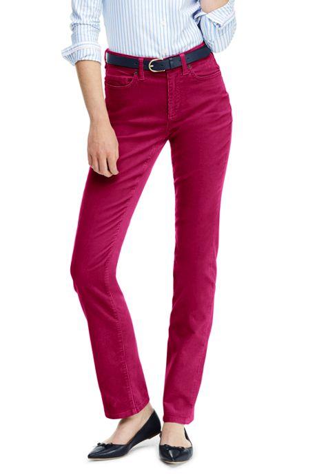 Women's Tall High Rise Straight Leg Corduroy Pants