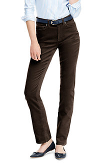 Women's High Waisted Jeans, Straight Leg Corduroy