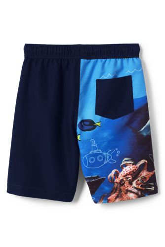 Boys Husky Wrap Around Shark Swim Trunks