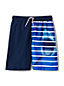 Little Boys' Shark Stripe Swim Shorts