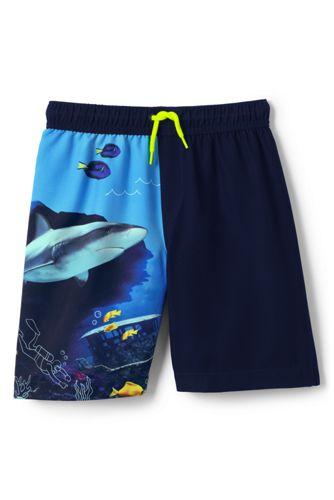 Short de Bain à Motifs Aquatiques, Tout Petit Garçon