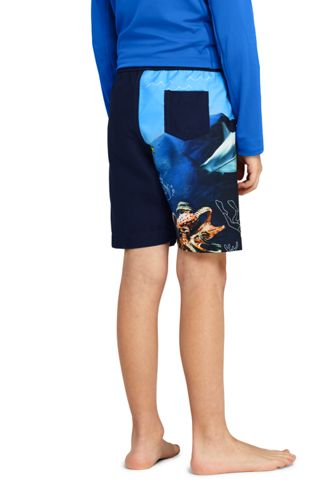 Boys Slim Wrap Around Shark Swim Trunks