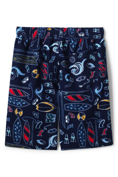 Little Boys Printed Swim Trunks