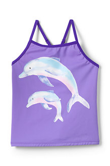 Girls' Smart Swim Graphic Tankini Top