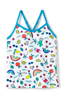 Girls' Smart Swim Pattern Tankini Top