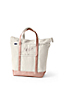 Large Zip Top Canvas Tote Bag in Natural/Gold