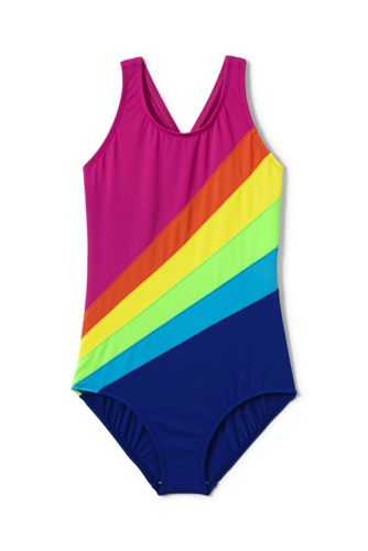 Little Girls' Smart Swim Rainbow Swimsuit