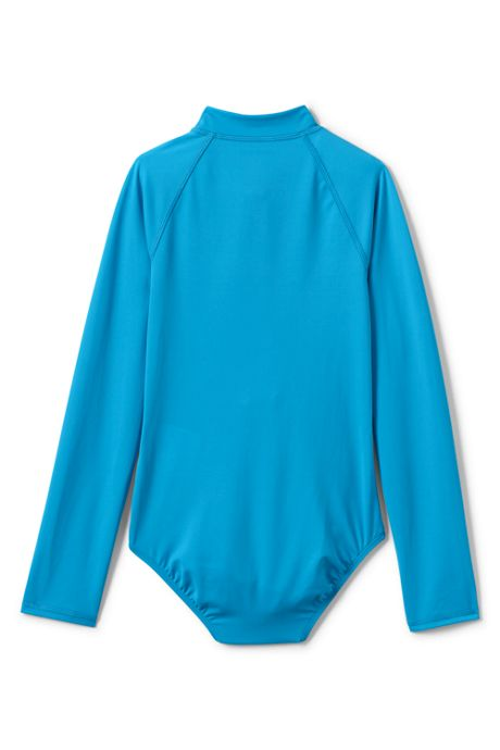 Little Girls Smart Swim Long Sleeve One Piece Swimsuit