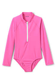 Girls Smart Swim Long Sleeve One Piece Swimsuit