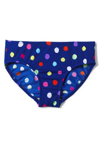 Little Girls' Smart Swim Patterned Tankini Bottoms