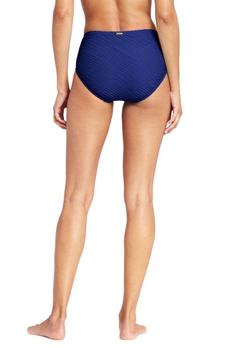 Women's Texture High Waisted Bikini Bottoms