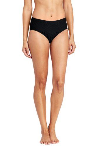 Women's Textured High Waist Bikini Bottoms