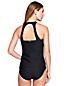 Women's Textured High-neck Tankini Top
