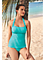 Women's D Cup Textured Halterneck Tankini Top
