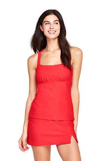 Women's Textured Halterneck Tankini Top
