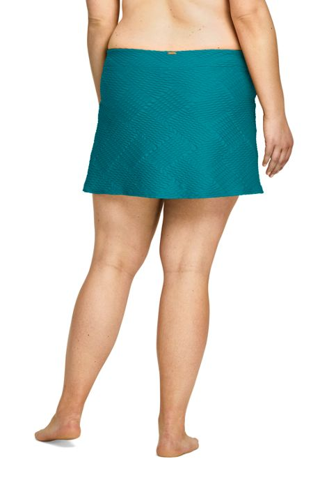 Women's Plus Size Texture SwimMini Skirt