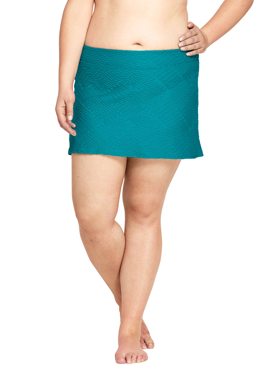 17f4d60f7ad Women's Texture SwimMini Skirt from Lands' End