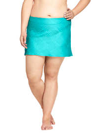 Women's Plus Size Texture SwimMini Skirt