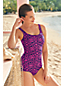 Women's Scroll Batik Tugless Swimsuit
