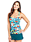 Women's Resort Collection Cross Back Tankini Top Floral