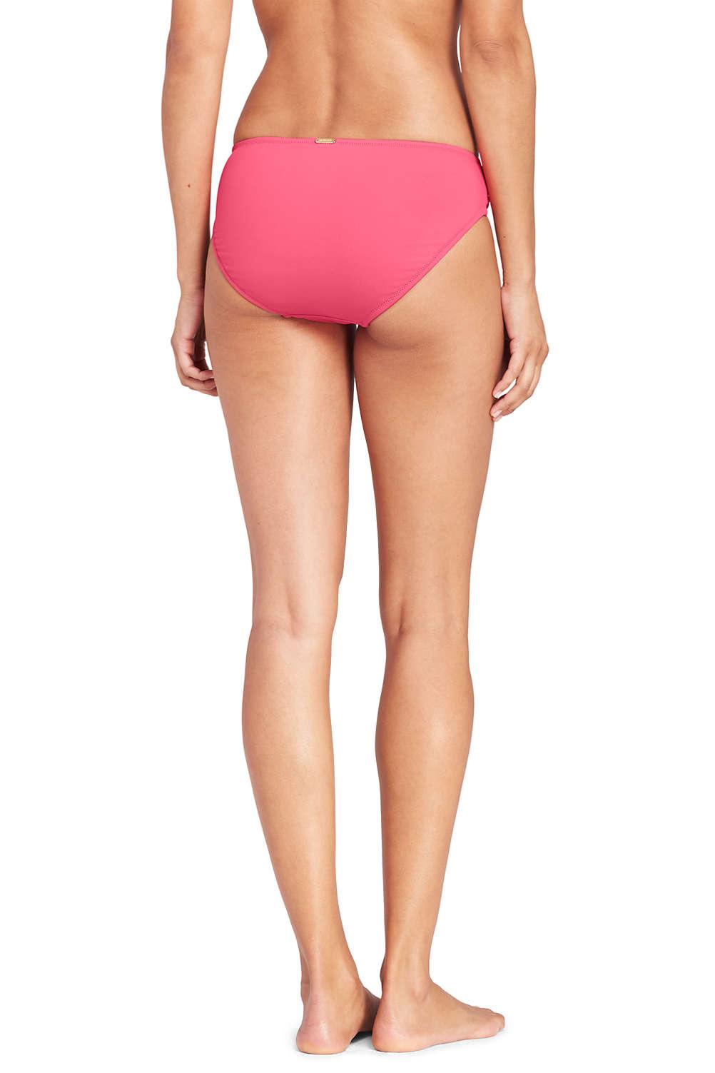 51c19dc4f1 Women's Wrap Mid Waist Bikini Bottoms from Lands' End