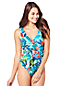 Women's Resort Collection Wrap Swimsuit Floral