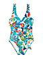 Women's Wrap Swimsuit Floral