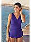 Women's Wrap Front Tunic Slender Swimsuit - DDD Cup