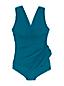 Maillot 1 Pièce Amincissant Bonnet E Effet Tunique Uni, Femme Stature Standard